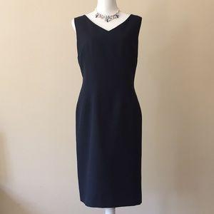 Kasper Navy Sheath Dress
